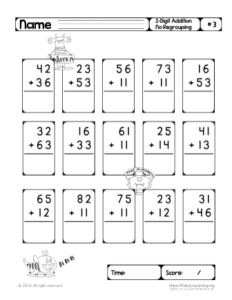 Two Digit Addition (No Regrouping) #3 | Free Worksheets ...