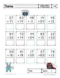 2 digit addition without regrouping worksheets