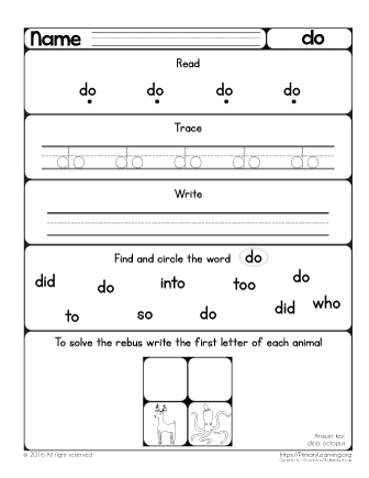 sight word do