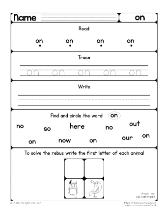 sight word on