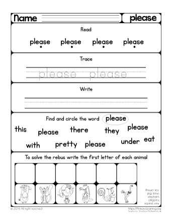 sight word please
