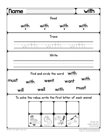 sight word with