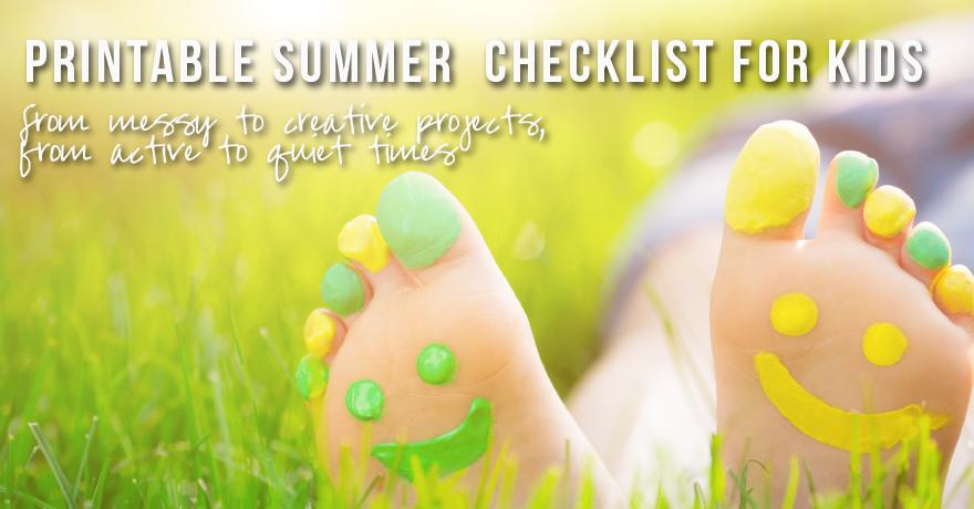 Free Printable Summer Checklist for Kids
