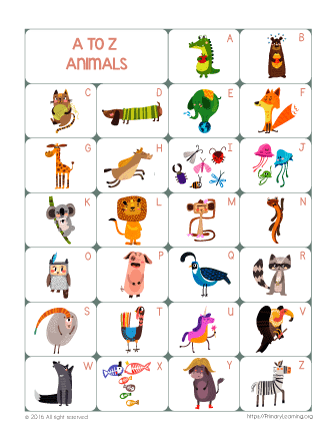Traceable Alphabet with Animals   PrimaryLearning.org