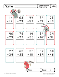 addition worksheets with regrouping