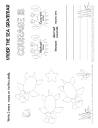 abstract nouns worksheet 3rd grade