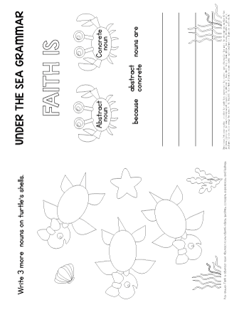 worksheet on abstract nouns
