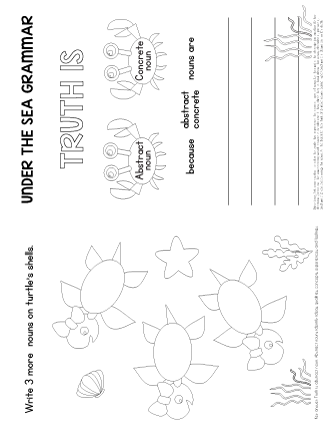 abstract noun worksheet grade 3