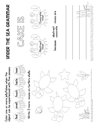 concrete nouns worksheet