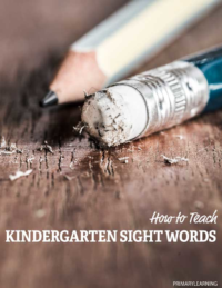 how to teach kindergarten sight words