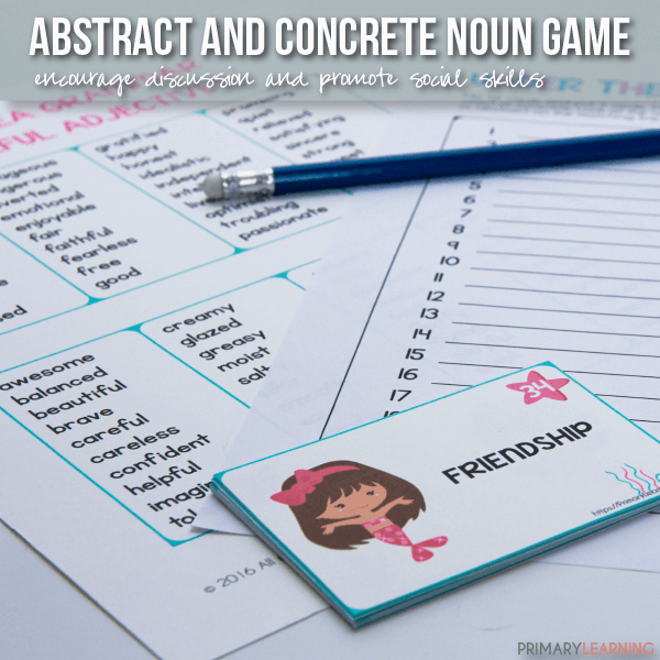 Concrete and abstract nouns worksheets for grade 2