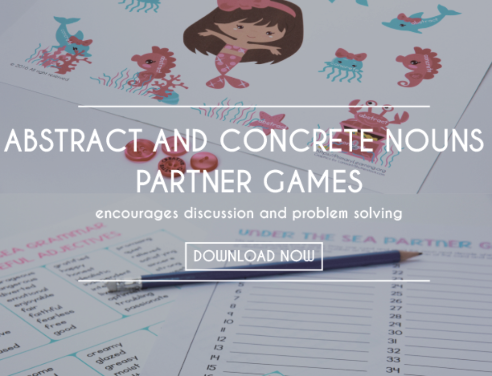 Abstract and Concrete Nouns Partner Games