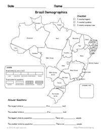 brazil states map