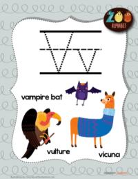 letter v animals