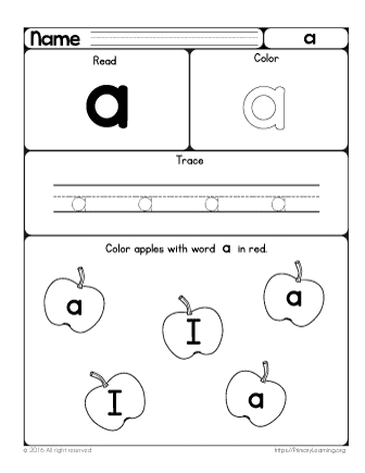 sight word a