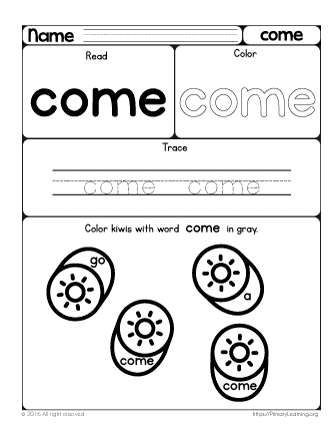 Grade/Subject: Preschool , Sight Words | Type: Digital (PDF) | 39 ...