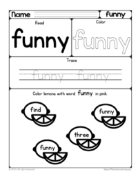 sight word funny