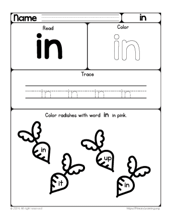 Grade/Subject: Preschool , Sight Words | Type: Digital (PDF) | 87 ...