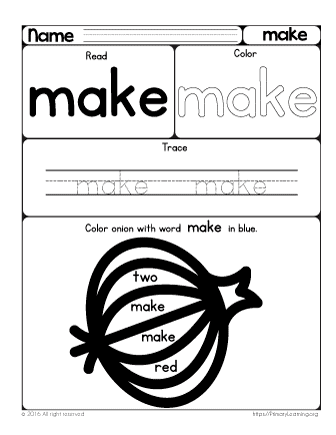 sight word make