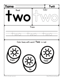 sight word two