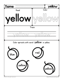 sight word yellow