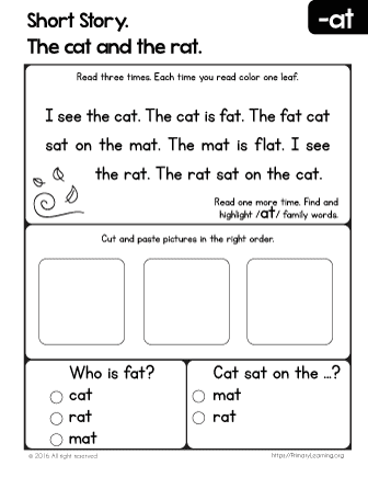 Short Story. The Cat and the Rat. | PrimaryLearning.org