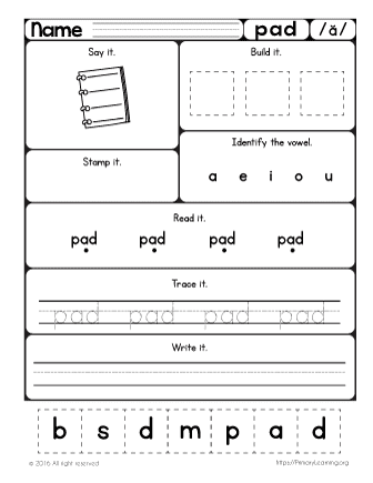 short vowel a sound