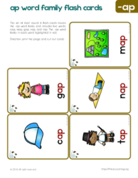 ap word family with pictures