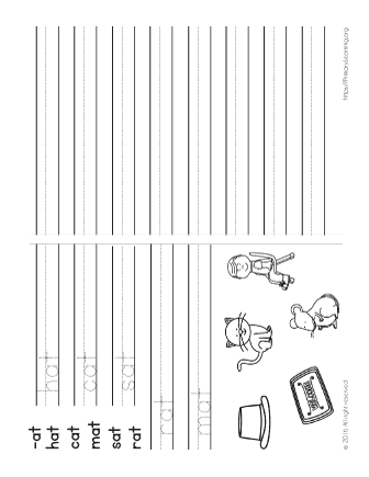 At Word Family Spelling Worksheet Free Worksheets