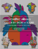 Geometric Animals | Color by Short a Sound