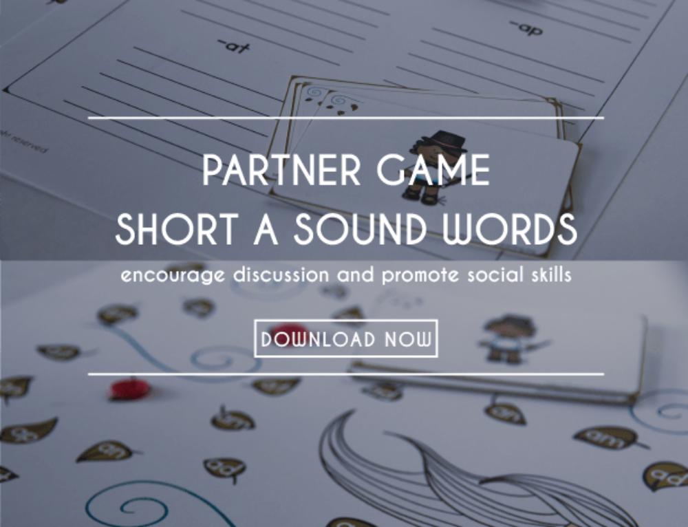 Short a Sound Words   Partner Game