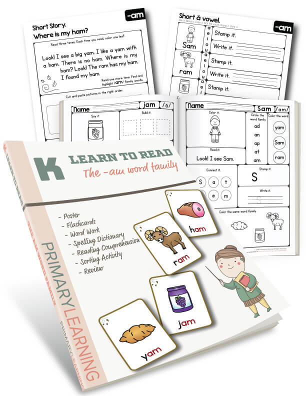 The am Word Family : Hands-on Pack : PrimaryLearning.org