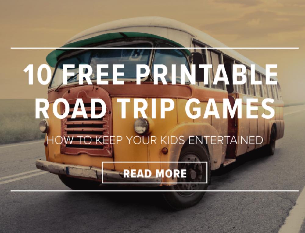 10 Free Printable Road Trip Games