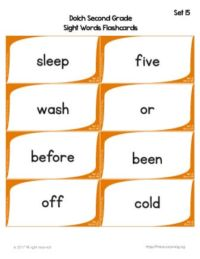free dolch sight word flashcards