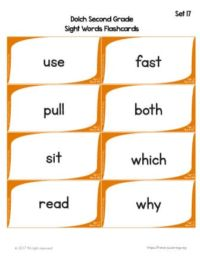 sight word flashcards printable