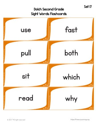 photograph regarding Printable Sight Word Flashcards With Pictures referred to as Dolch Sight Phrases Flashcards Record 17