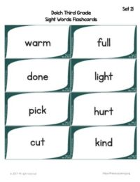 flashcards sight words