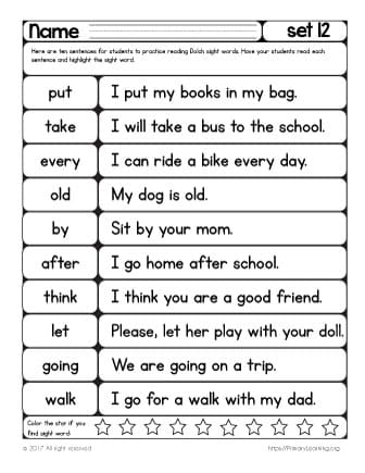 picture regarding Sight Words for 1st Grade Printable List titled Sight Text Looking through Train Record 12