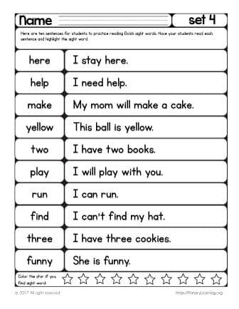 printable reading passages