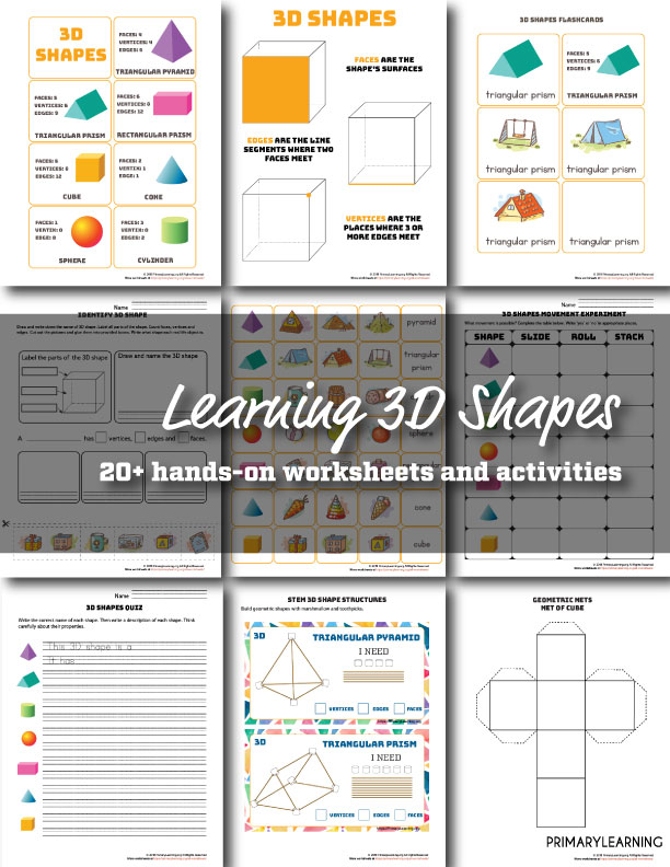 Free 3d Shapes Worksheets And Activities