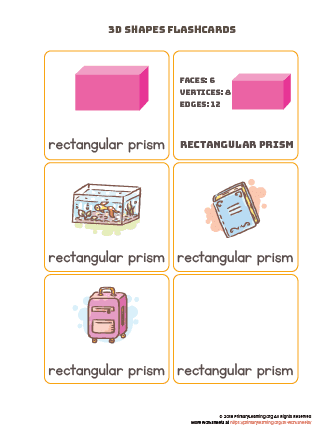 Rectangular prism flashcards