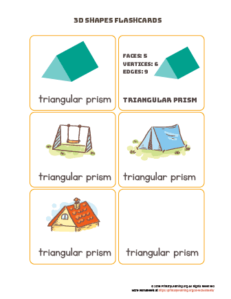 Triangular prism flashcards