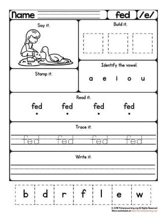fed worksheet