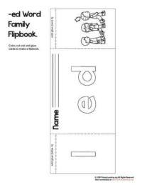 ed word family flip book