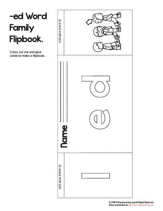 ed word family flip book