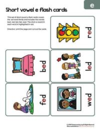 ed word family flashcards