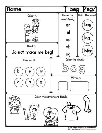 beg worksheet