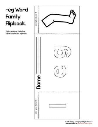 eg word family flip book