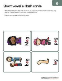 eg word family flashcards