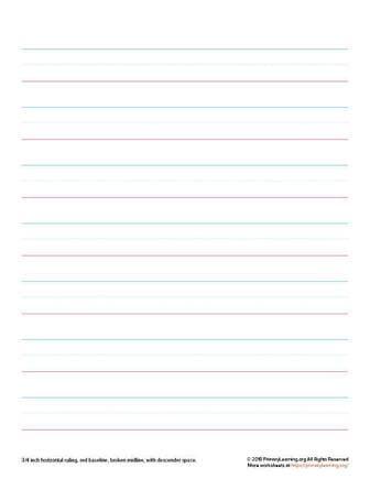 handwriting paper for kindergarten
